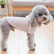 Perros / Gatos Abrigos / Saco y Capucha Ropa para Perro Ajedrez Verde / Rosa Terileno Disfraz Para mascotas Mujer Ordinario / Ocio