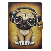 Etui Til Samsung Galaxy Tab 3 10.1 Kortholder / Støtsikker / med stativ Heldekkende etui Hund Hard PU Leather til Tab 3 10.1