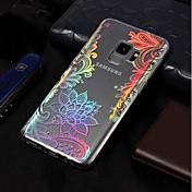 Funda Para Samsung Galaxy S9 / S9 Plus Cromado / Diseños Funda Trasera Impresión de encaje Suave TPU para S9 Plus / S9 / S8 Plus