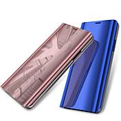 Funda Para Samsung Galaxy A6+ (2018) / A6 (2018) con Soporte / Cromado / Espejo Funda de Cuerpo Entero Un Color Dura Cuero de PU para A6
