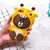 Etui Til Apple iPhone 7 / iPhone 7 Plus Mønster Bakdeksel 3D-tegneseriefigur Myk Silikon til iPhone 7 Plus / iPhone 7 / iPhone 6s Plus