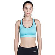Sin costura Sujetadores de Deporte Acolchado Sujeción Media Para Yoga / Running - Rosa Rojo / Azul cielo Secado rápido Mujer Poliéster, Licra