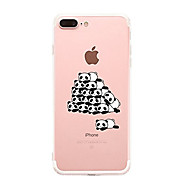 For Case Cover Ultra-thin Transparent Pattern Back Cover Case Panda Soft TPU for Apple iPhone X iPhone 8 Plus iPhone 8 iPhone 7 Plus