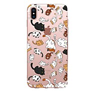 For Case Cover Transparent Pattern Back Cover Case Cat Soft TPU for Apple iPhone X iPhone 8 Plus iPhone 8 iPhone 7 Plus iPhone 7 iPhone