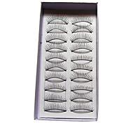 Недорогие -естественные и изогнутые ресницы 112 # - 10 пар в коробку (jjm035)