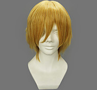 Cosplay Wigs One Piece Sanji Golden Short Anime Cosplay Wigs 32 CM Heat Resistant Fiber Male