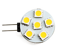 1.5W G4 LED Spotlight 6 SMD 5050 150lm Warm White 2700K DC 12V