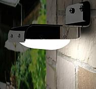 Недорогие -16x3528smd белый свет вел солнечный свет датчик движения pir настенный садовый светильник