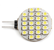 cheap -2W 6000 lm G4 LED Spotlight 24 leds SMD 3528 Natural White DC 12V