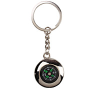 cheap -Metal Silver Cool Compass Keychain