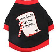 Cani T-shirt Nero Abbigliamento per cani Primavera/Autunno Lettere & Numeri