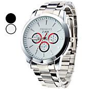 cheap -Men's Quartz Wrist Watch Hot Sale Alloy Band Charm Dress Watch Silver