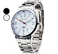 Herren Kleideruhr Modeuhr Armbanduhr Quartz Legierung Band Silber