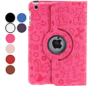 cheap -Case For iPad Mini 3/2/1 with Stand 360° Rotation Full Body Cases Cartoon PU Leather for iPad Mini 3/2/1