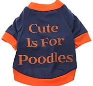 Cane T-shirt Abbigliamento per cani Lettere & Numeri Costume Per animali domestici