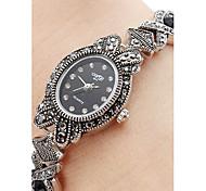 Недорогие -Жен. Кварцевый Часы-браслет Японский Повседневные часы сплав Группа Кулоны Черный