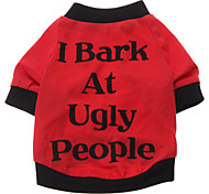 Dog Shirt / T-Shirt Dog Clothes Breathable Cute Letter & Number Costume For Pets