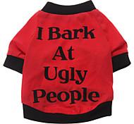 abordables -Perro Camiseta Ropa para Perro Letra y Número Algodón Disfraz Para mascotas Hombre Mujer Bonito