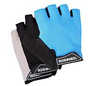 Недорогие -Спортивные перчатки Перчатки для велосипедистов Пригодно для носки Дышащий Износостойкий Без пальцев Ткань Сетка Велосипедный спорт /