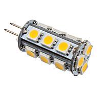 2W G4 LED a pannocchia T 18 SMD 5050 210-230 lm Bianco caldo 3000K K DC 12 V
