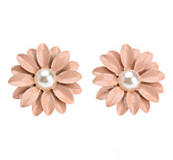 cheap -Women's Pearl Stud Earrings - Pearl Flower, Daisy Cute Pink For Daily