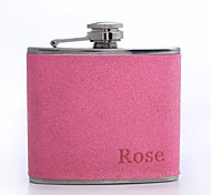 cheap -Personalized Father's Day Gift 5oz PU Leather Flask (Rose,Pink,Blue,Purple)