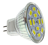 2W GU4(MR11) LED Spotlight MR11 12 SMD 5730 240-260lm Natural White 6000K DC 12V 1pc