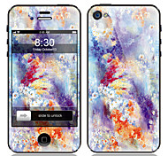 Flower Pattern Front and Back Screen Protector Film for iPhone 4/4S
