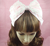 Lolita Jewelry Sweet Lolita Headwear Princess Pink Lolita Accessories Headpiece Bowknot Solid For Cotton