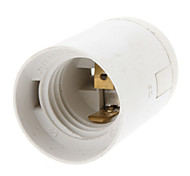 cheap -E27 Base Bulb Socket Lamp Holder (White)