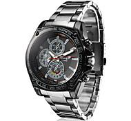 Men's Racing Style Black Alloy Quartz Wrist Watch Cool Watch Unique Watch Fashion Watch