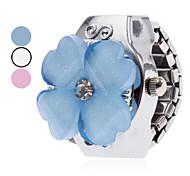 cheap -Women's Quartz Ring Watch Japanese Casual Watch Alloy Band Flower Cartoon Silver
