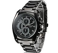 Men's Business Style Black Alloy Quartz Wrist Watch Cool Watch Unique Watch