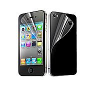 Недорогие -12x прозрачный передний и задний защитный экран для iphone 4 / 4s iphone 4s / 4 защиты экрана