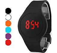 cheap -Men's Digital Wrist Watch Touch Screen Calendar / date / day LED Silicone Band Creative Black White Red Orange Green Purple