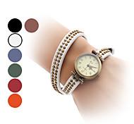 Damen Armband-Uhr Modeuhr Japanisch Quartz Band Retro Armreif Schwarz Weiß Blau Rot Orange Braun Grün