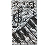Благородный фортепиано План ювелирные защитные тела наклейка для мобильного телефона