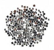 1000PCS квадратной формы Rhinestone украшения искусства ногтя 2 мм прозрачная