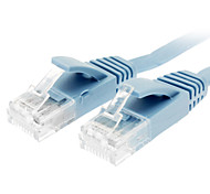 Cat 6 Male to Male Network Cable Flat Type Blue(1M)