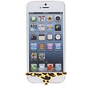 Rosso Toni Fiore modello Scavi fuori scala dedicata Hard Case per iPhone 5