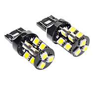 cheap -T20(7440,7443) Car White 3.5W SMD 5050 6000-6500 Turn Signal Light Brake Light CANBUS