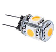 0.5W G4 LED Corn Lights T 5 leds SMD 5050 Warm White 3000lm 3000KK DC 12V
