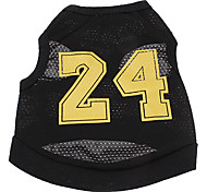 Dog Shirt / T-Shirt Jersey Dog Clothes Cosplay Letter & Number Black Costume For Pets