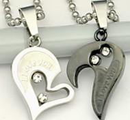 Недорогие -Муж. Ожерелья с подвесками Нержавеющая сталь Сплав В форме сердца Серебряный Бижутерия Повседневные