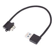 USB 3.0 мужчина к Mini USB 3.0 90 градусов налево Черный (0,2 М)