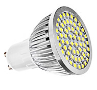 GU10 LED Spotlight MR16 60 SMD 3528 240lm Natural White 6500K AC 110-130 AC 220-240V