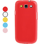 cheap -For Samsung Galaxy Case Other Case Back Cover Case Solid Color TPU Samsung S3