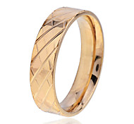 Simple Style  Men'S Carve Pattern Stainless Steel Ring