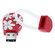 Недорогие -8GB Мягкие резиновые шлепанцы USB Flash Drive