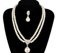 cheap -Women's Pearl Jewelry Set Earrings / Necklace - For Wedding / Party / Anniversary